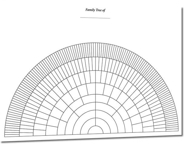 Well known A3 Eight Generation Half Circle Fan Chart (Folded) - S&N Genealogy  VZ72