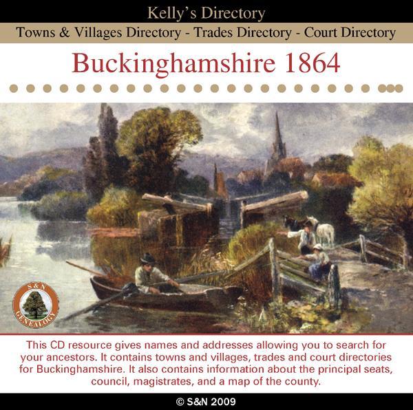 Buckinghamshire 1864 Kellys Directory  SN Genealogy Supplies