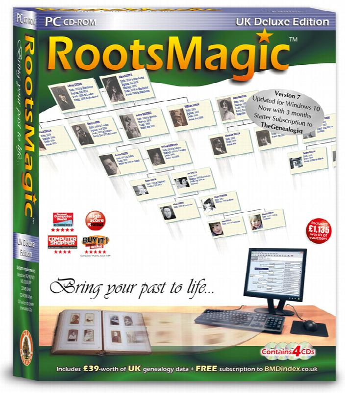 Save £10 on RootsMagic UK Version 7 Deluxe Edition