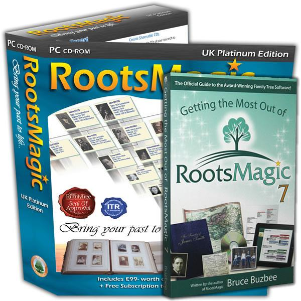 RootsMagic UK Version 7 Platinum Edition with Getting the Most Out of RootsMagic 7 Book