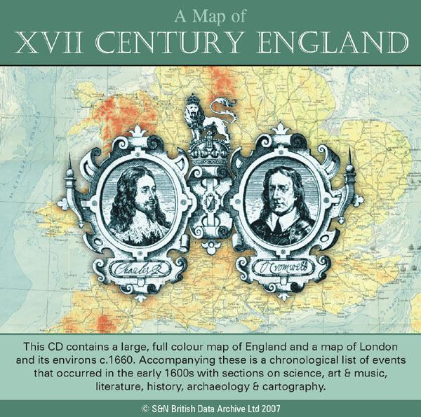 A Map of XVII Century England
