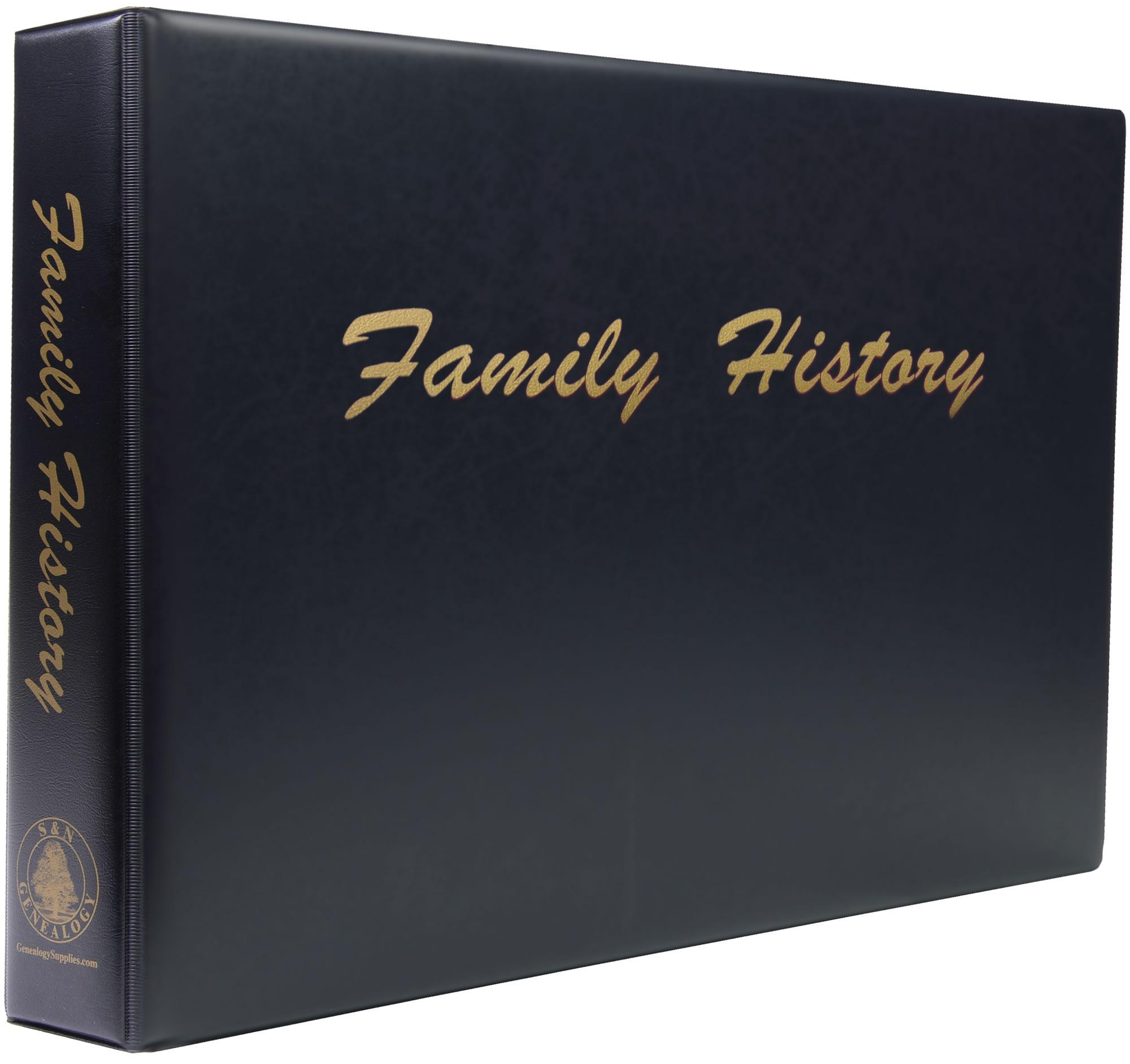 A3 Luxury Black Family History Binder