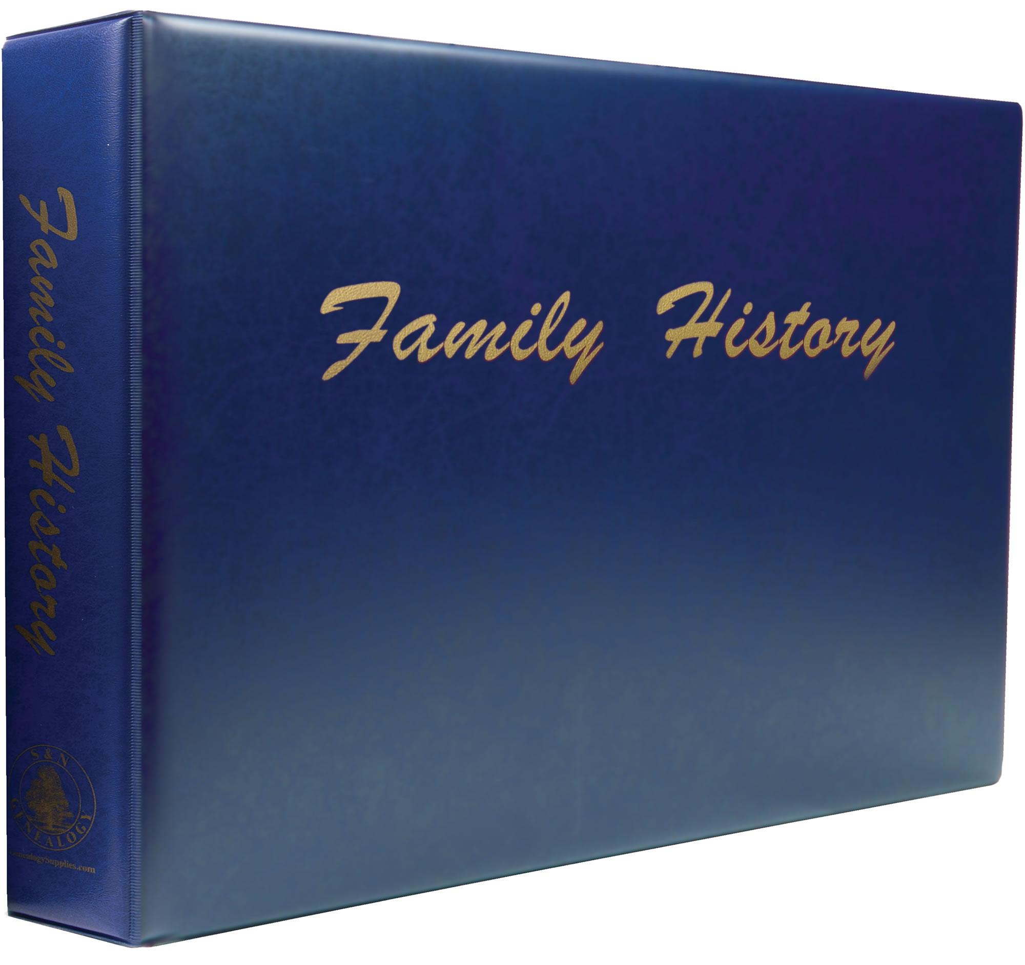 A3 Luxury Blue Family History Binder