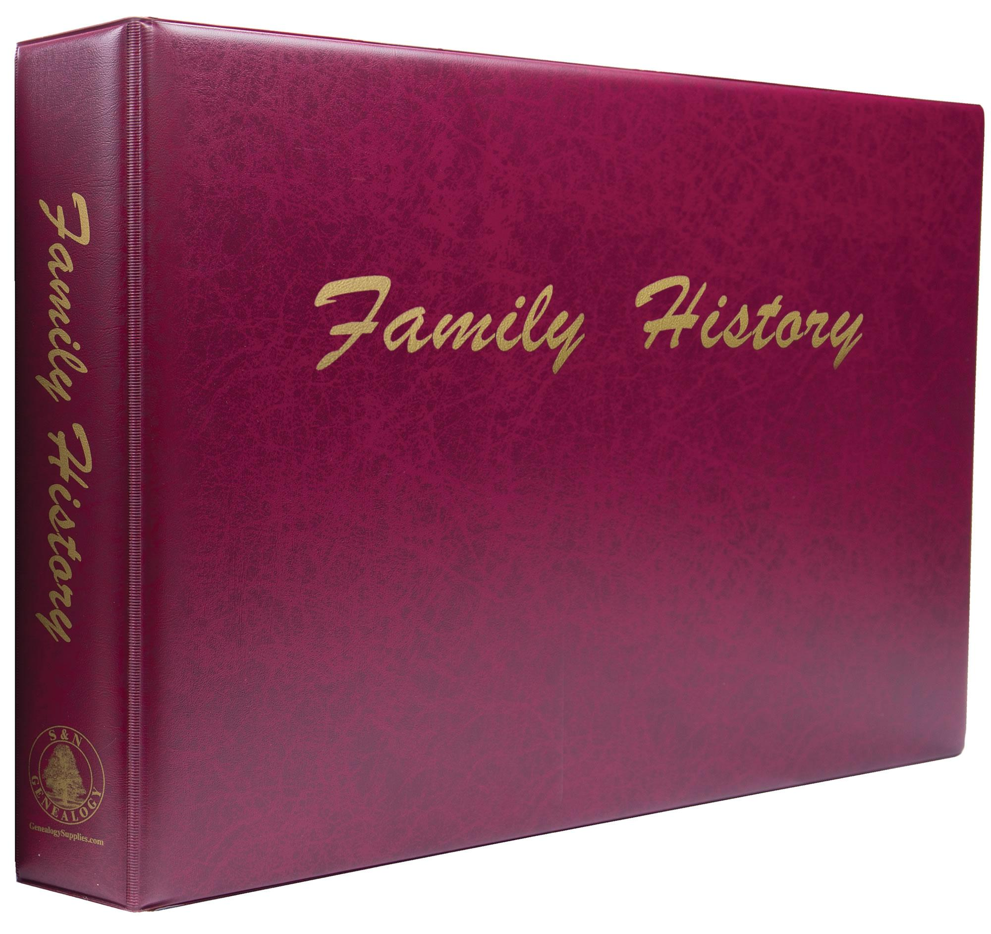 A3 Luxury Burgundy Family History Binder