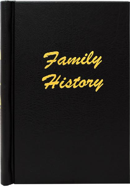 A4 Black Leather Effect Family History Springback Binder