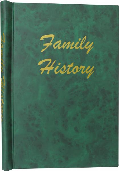 A4 Green Deluxe Family History Springback Binder