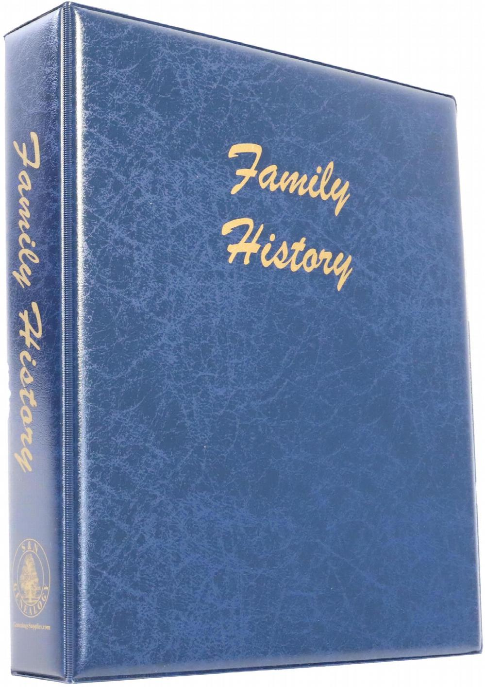 A4 Luxury Blue Family History Binder