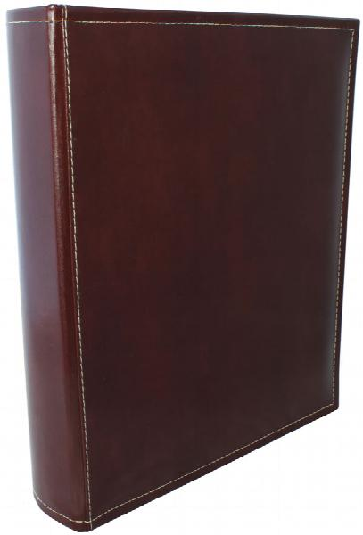 A4 Premium Leather Binder - Burgundy