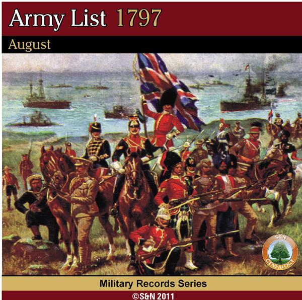 Army List 1797 - August