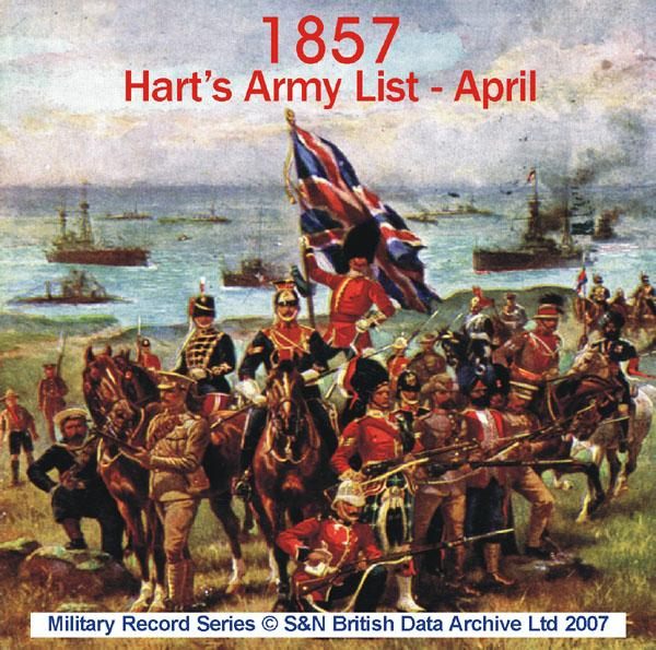 Army List 1857  - April (Hart's)