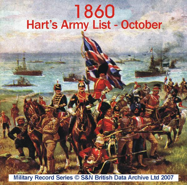 Army List 1860 - October  (Hart's)