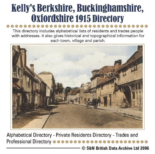 Berkshire, Buckinghamshire & Oxfordshire Kelly's 1915 Directory