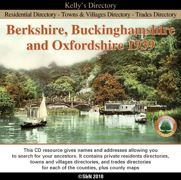 Berkshire, Buckinghamshire & Oxfordshire Kelly's 1939 Directory