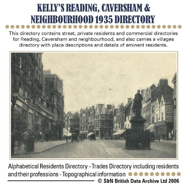 Berkshire, Reading, Caversham and Neighbourhood Kelly's 1935 Directory