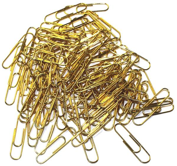 Brass Archival Non-Rusting Paperclips