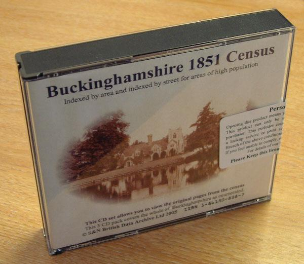 Buckinghamshire 1851 Census