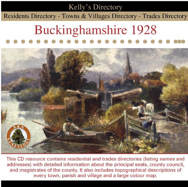 Buckinghamshire 1928 Kelly's Directory
