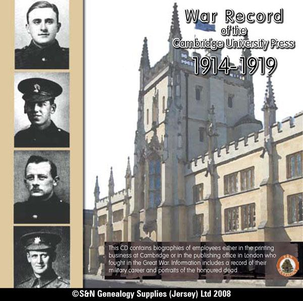 Cambridge University Press War Record 1914-1919