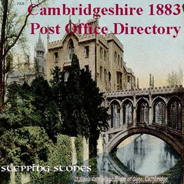 Cambridgeshire 1883 Post Office Directory