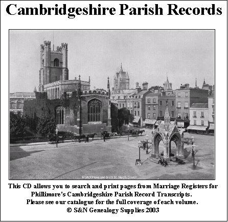 Cambridgeshire Phillimore Parish Records (Marriages) Volume 06