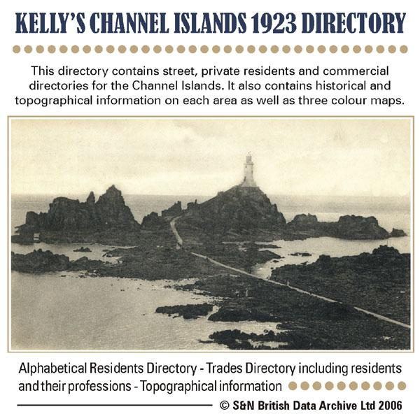 Channel Islands, Kelly's 1923 Directory
