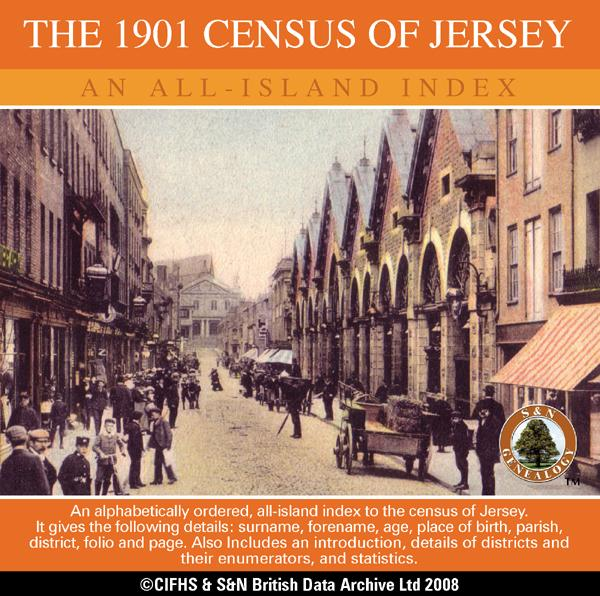 Channel Islands, The 1901 Census of Jersey - An All Island Index