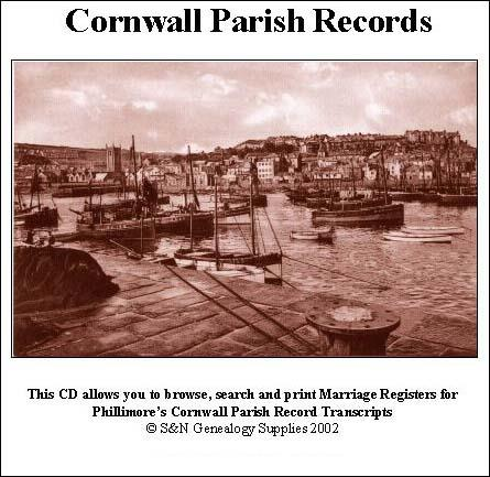 Cornwall Phillimore Parish Records (Marriages) Volume 01