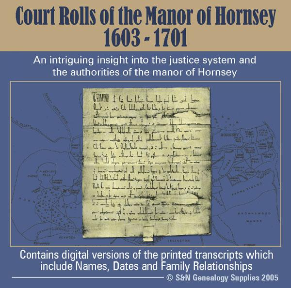 Middlesex, Court Rolls of the Manor of Hornsey 1603-1701