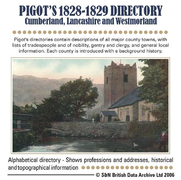 Cumberland, Lancashire and Westmorland Pigot's 1828-1829 Directory