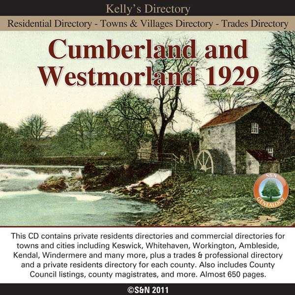 Cumberland and Westmorland Kelly's Directory 1929