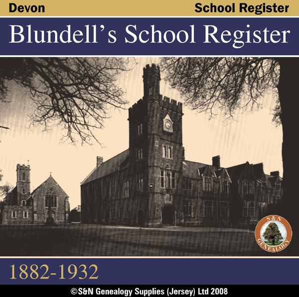 Devon, Blundell's School Register 1882-1932