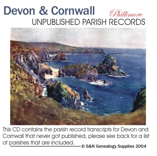 Devon & Cornwall - Previously Unpublished Phillimore Parish Records