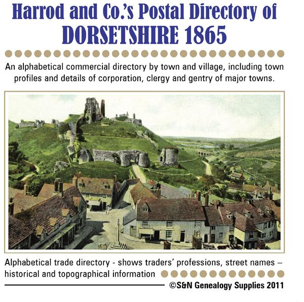 Dorset, J.G. Harrod & Co. Postal and Commercial Directory 1865