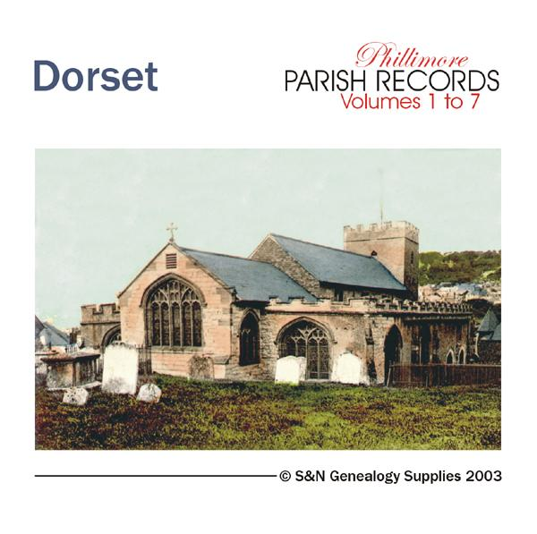 Dorset Phillimore Parish Records (Marriages) Volumes 1 to 7 on one CD