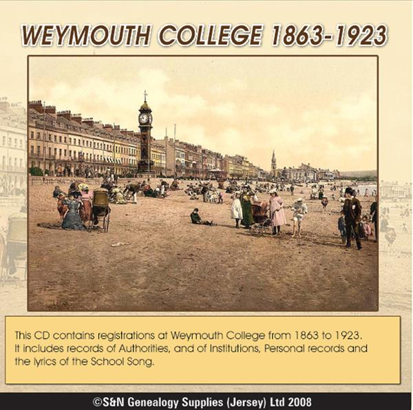 Dorset, Weymouth College 1863-1923