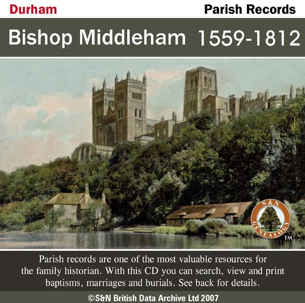 Durham, Bishop Middleham Parish Records 1559-1812