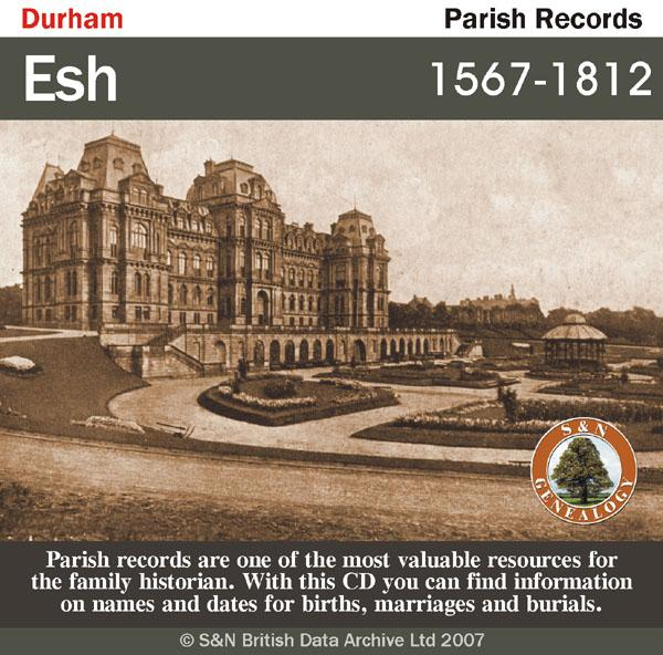 Durham, Esh Parish Registers 1567-1812
