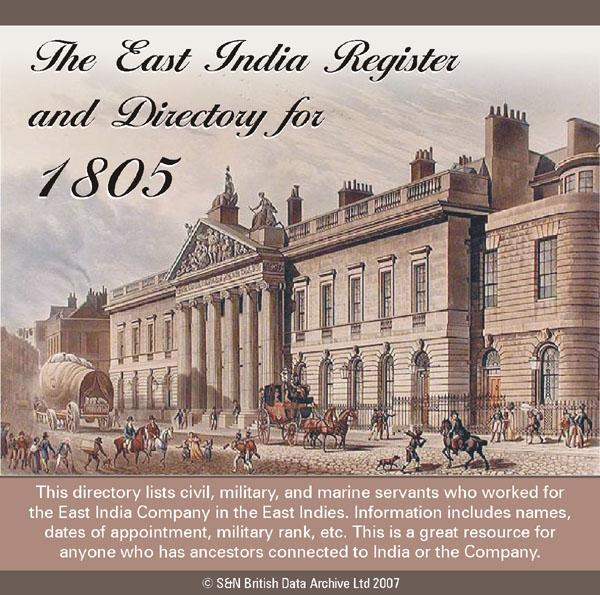 East India Register and Directory - 1805