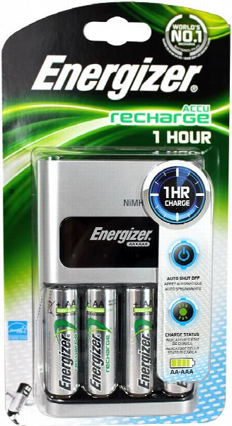 Energizer Battery Charger Accu Recharge 1-Hour (for AA and AAA NiMH Batteries)