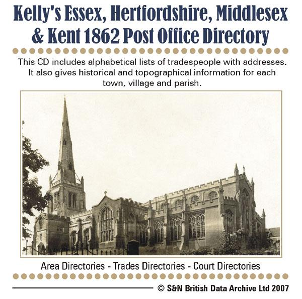 Essex, Herts, Middlesex, & Kent Post Office Directory 1862