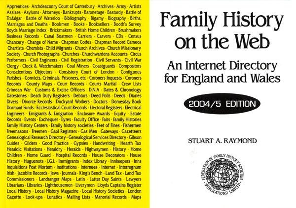 Family History on the Web - An Internet Directory for England & Wales
