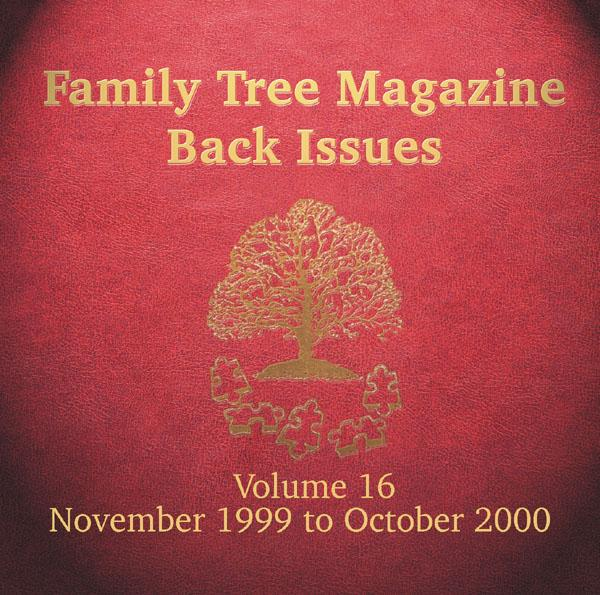 Family Tree Magazine Back Issues On CD - Volume 16 November 1999 to October 2000