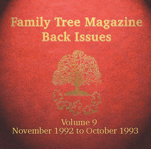 Family Tree Magazine Back Issues On CD - Volume 9 November 1992 to October 1993