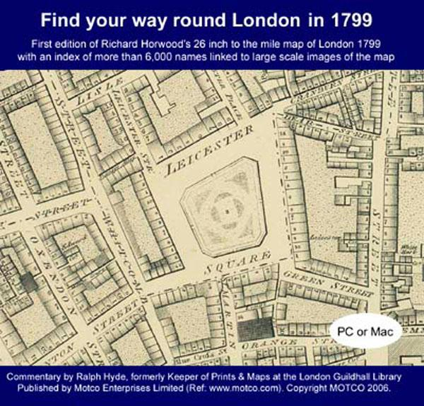 Find your way round London in 1799 - Map CD