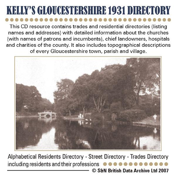 Gloucestershire, Kelly's Gloucestershire 1931 Directory