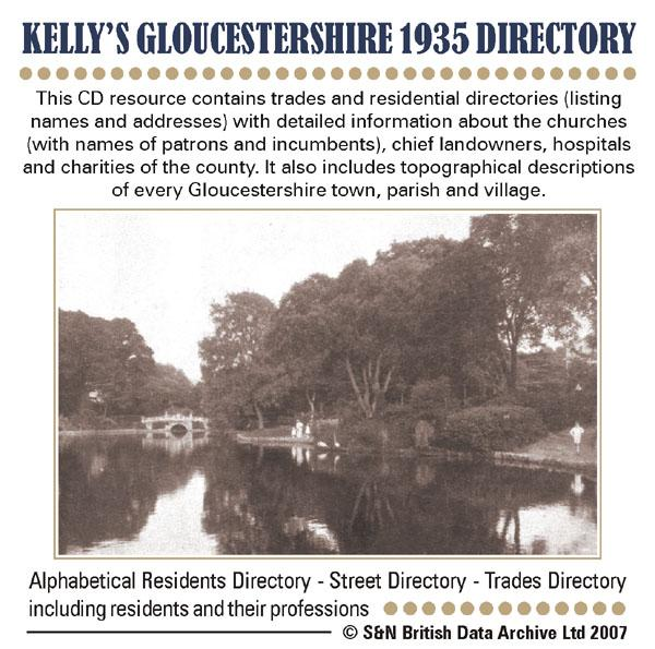 Gloucestershire, Kelly's Gloucestershire 1935 Directory