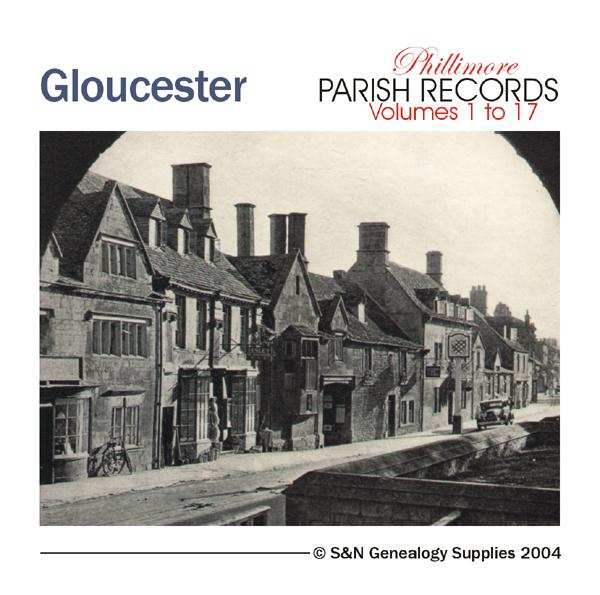 Gloucestershire Phillimore Parish Records (Marriages) Volumes 01 to 17 on one CD