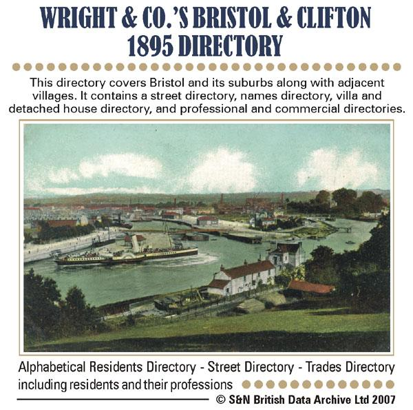 Gloucestershire, Wright's Bristol & Clifton 1895 Directory