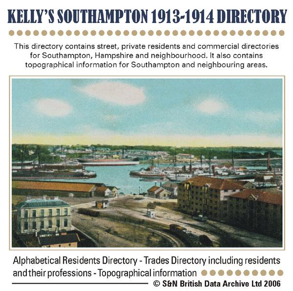 Hampshire, Kelly's 1913-1914 Directory of Southampton