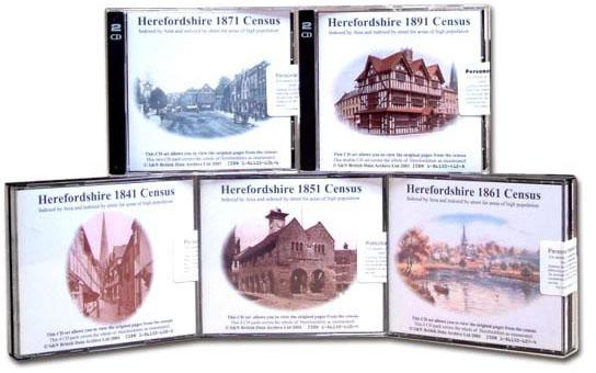 Herefordshire Census Bundle - 1841, 1851, 1861, 1871 and 1891